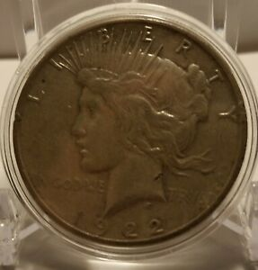 EARLY   1922 S   PEACE SILVER DOLLAR   90  US COIN