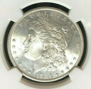 1901 S MORGAN SILVER DOLLAR   NGC MS 63  BEAUTIFUL COIN  REF39 005