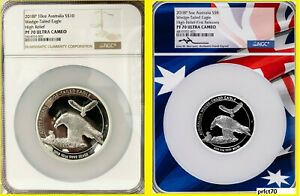 Click now to see the BUY IT NOW Price! 2018 WEDGE TAILED EAGLE 5 OZ 10 OZ  SILVER HIGH RELIEF NGC PF 70 2 COINS W/BOX
