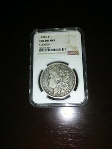 1890 O MORGAN DOLLAR  NGC   FINE DETAILS CLEANED