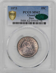 Click now to see the BUY IT NOW Price! 1873 LIBERTY SEATED 25C PCGS MS 62
