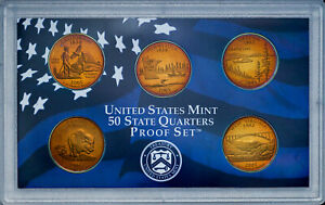 Click now to see the BUY IT NOW Price! 2005 S UNITED STATES MINT PROOF QUARTERS SET BU UNC STUMPTUOUS COLOR TONED