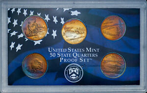 Click now to see the BUY IT NOW Price! 2005 S UNITED STATES MINT PROOF QUARTERS SET BU UNC FANTASTIC COLOR TONED