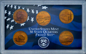 Click now to see the BUY IT NOW Price! 2005 S UNITED STATES MINT PROOF QUARTERS SET BU UNC BREATHTAKING COLOR TONED