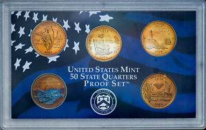 Click now to see the BUY IT NOW Price! 2003 S UNITED STATES MINT PROOF QUARTERS SET BU UNC AWESOME COLOR TONED