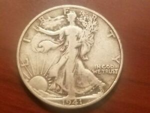 Click now to see the BUY IT NOW Price! 1941 S WALKING LIBERTY HALF DOLLAR SILVER COIN 50 CENTS WALKER 50C WWII RELIC