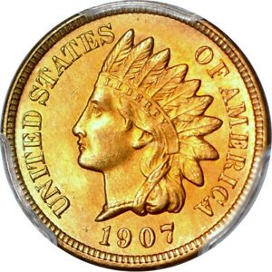 Click now to see the BUY IT NOW Price! 1907 1C INDIAN CENT PCGS MS66 RD
