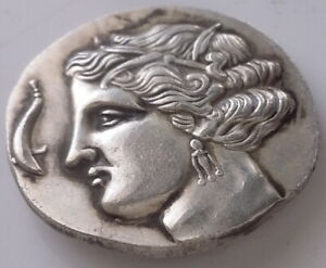 ANCIENT GREECE SILVER PLATED HORSE HEAD ANIMAL COIN THE GREAT GREEK  COIN 4