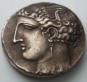 SILVER PLATED ANCIENT GREECE ALEXANDER THE GREAT ATHENS HORSE GREEK COIN  13