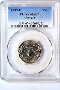 Click now to see the BUY IT NOW Price! 1999 D 25C GEORGIA STATES QUARTER PCGS MS67