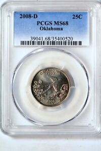 Click now to see the BUY IT NOW Price! 2008 D 25C OKLAHOMA STATES QUARTER PCGS MS68