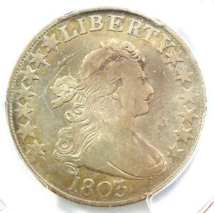 1803 DRAPED BUST HALF DOLLAR 50C WITH LARGE 3   CERTIFIED PCGS VG DETAILS