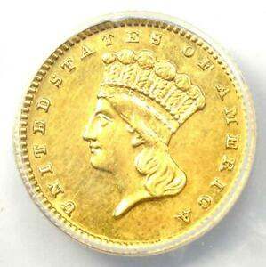 1888 INDIAN GOLD DOLLAR  G$1 COIN    CERTIFIED ANACS AU58 DETAILS
