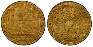 Click now to see the BUY IT NOW Price! BELGIUM. FLANDERS BRUGES. LOUIS II DE MALE  1346 84  AV LION D'OR. PCGS MS62