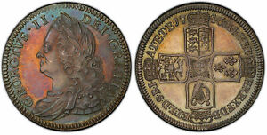 Click now to see the BUY IT NOW Price! GREAT BRITAIN. GEORGE II. 1746 AR HALFCROWN. PCGS PR63. EDGE: VICESIMO S 3696