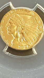 1925 D $2.50 INDIAN HEAD 2 1/2 DOLLARS GOLD QUARTER EAGLE PCGS MS62 CAC RATING