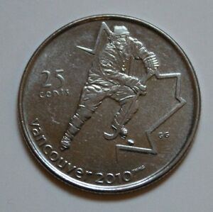 CANADA 2010 OLYMPIC WINTER VANCOUVER 25 CENT QUARTER HOCKEY