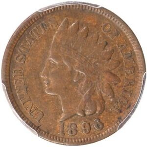 1896 1C INDIAN CENT HORN 9 PCGS XF40 CAC S 21 FS 302