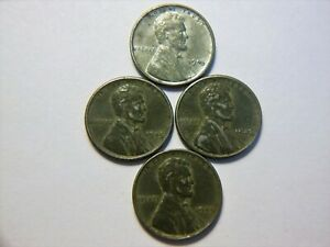 SET OF 4 WW LL 1943 P STEEL WHEAT CENTS   NICE COINS FOR ANY COLLECTION