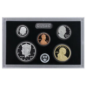 2012 PARTIAL US MINT SILVER PROOF SET 90  KENNEDY DIME NICKEL CENT   5 COINS