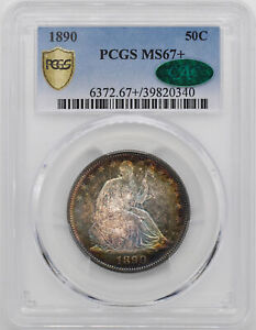 Click now to see the BUY IT NOW Price! 1890 LIBERTY SEATED 50C PCGS MS 67