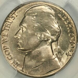 Click now to see the BUY IT NOW Price! 1954 S JEFFERSON NICKEL PCGS MS65FS