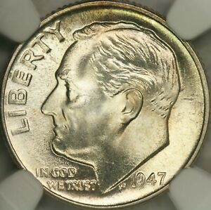 Click now to see the BUY IT NOW Price! 1947 D ROOSEVELT DIME NGC MS68FB