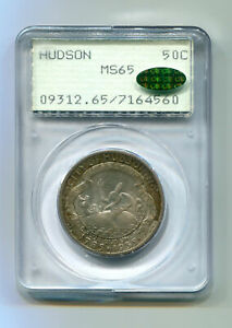 Click now to see the BUY IT NOW Price! 1935 HUDSON COMMEMORATIVE HALF PCGS MS65 CAC RATTLER SUPER PREMIUM QUALITY PQ