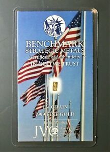 GOLD GRAM 1/60TH  24K CERT CARD  COLLECTOR STARS AND STRIPES