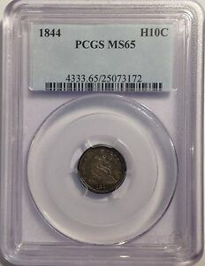 1844  SEATED LIBERTY HALF DIME   PCGS MS65   H10C   UNCIRCULATED