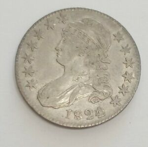 1824 OVER VARIOUS DATES BUST HALF