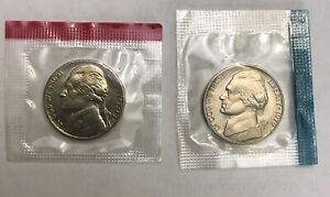 1979 P & D JEFFERSON NICKEL SET  2 COIN LOT  MINT CELLO     FREE SHIP