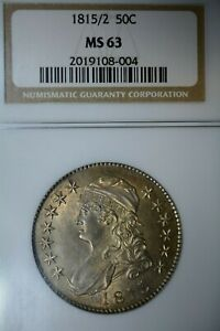 Click now to see the BUY IT NOW Price! 1815/2 50C KEY DATE NGC MS63   OFF THE MARKET FOR OVER A DECADE