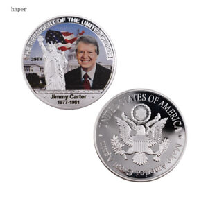 US 39TH PRESIDENT SOUVENIR COIN JIMMY CARTER COMMEMORATIVE GIFT COIN METAL CRAFT