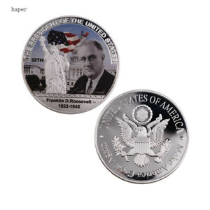 AMERICAN 32TH PRESIDENT COIN FRANKLIN D ROOSEVELT COMMEMORATIVE METAL COIN