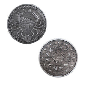 BIRTHDAY SOUVENIR GIFTS CONSTELLATION METAL COIN CANCER COMMEMORATIVE ART CRAFTS