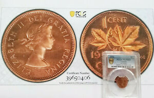 Click now to see the BUY IT NOW Price! 1954 CANADA 1 CENT PROOF LIKE NO STRAP  PCGS PL65RD WITH 8X10 PHOTO     BCS/406
