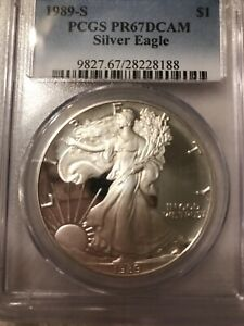 1989 S AMERICAN SILVER EAGLE NGC PF 69 LOT 45