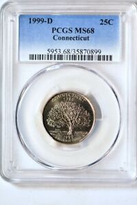 Click now to see the BUY IT NOW Price! 1999 D 25C CONNECTICUT STATES QUARTER PCGS MS68