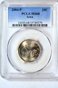 Click now to see the BUY IT NOW Price! 2004 P 25C IOWA STATES QUARTER PCGS MS68