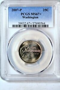 Click now to see the BUY IT NOW Price! 2007 P 25C WASHINGTON STATES QUARTER PCGS MS67
