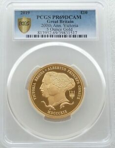 Click now to see the BUY IT NOW Price! 2019 ROYAL MINT QUEEN VICTORIA 10 TEN POUND GOLD PROOF 5OZ COIN PCGS PR69 DCAM
