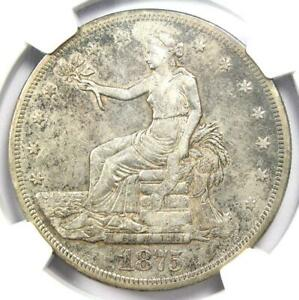 1875 CC TRADE SILVER DOLLAR T$1   NGC XF DETAILS  EF     CARSON CITY COIN