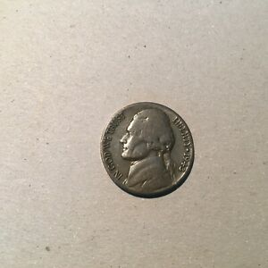 UNITED STATES  5 CENTS 1943 S  KM  192A  FINE.