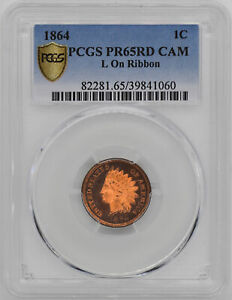Click now to see the BUY IT NOW Price! 1864 INDIAN BRONZE 1C PCGS PR 65 RD