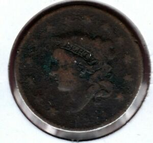 183? BRAIDED HAIR LARGE CENT UNKNOWN DATE CHEAP    C4453