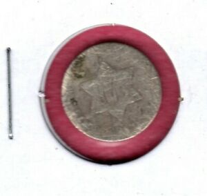 1852 3 CENT SILVER PIECE WELL CIRCULATED C4459