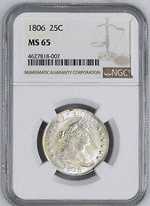 Click now to see the BUY IT NOW Price! 1806 DRAPED BUST 25C NGC MS 65
