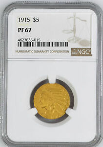Click now to see the BUY IT NOW Price! 1915 INDIAN HEAD $5 NGC PR 67