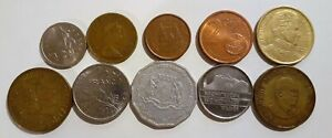 WORLD 10 DIFFERENT COINS LOT 4